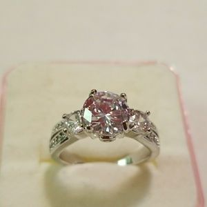 Jewelry - White Gold Filled Women's Ring, CZ Stone, Size 6